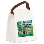Bridge / Keeshond Canvas Lunch Bag