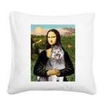 Mona's Keeshond (E) Square Canvas Pillow