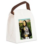 Mona's Keeshond (E) Canvas Lunch Bag