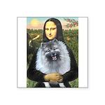 Mona Lisa / Keeshond (F) Square Sticker 3