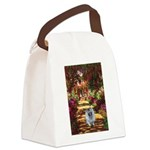 The Path - Keeshond (F) Canvas Lunch Bag