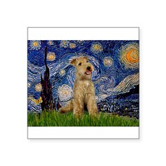 "Starry Night Lakeland T. Square Sticker 3"" x 3"""