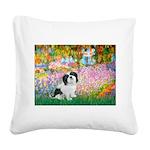 Garden / Lhasa Apso #2 Square Canvas Pillow