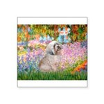 Garden / Lhasa Apso Square Sticker 3