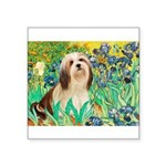 Irises / Lhasa Apso #4 Square Sticker 3