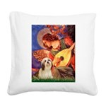 Mandolin / Lhasa Apso #4 Square Canvas Pillow