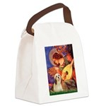 Mandolin / Lhasa Apso #4 Canvas Lunch Bag
