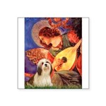 Mandolin / Lhasa Apso #4 Square Sticker 3
