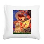 Mandolin / Lhasa Apso #9 Square Canvas Pillow