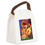 Mandolin / Lhasa Apso #9 Canvas Lunch Bag