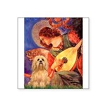 Mandolin / Lhasa Apso #9 Square Sticker 3