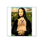 Mona / Lhasa Apso #9 Square Sticker 3