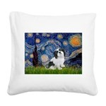 Starry / Lhasa Apso #2 Square Canvas Pillow