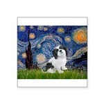 Starry / Lhasa Apso #2 Square Sticker 3