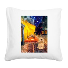 Cafe / Lhasa Apso #9 Square Canvas Pillow
