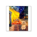 Cafe / Lhasa Apso #9 Square Sticker 3