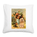 Vase / Lhasa Apso #9 Square Canvas Pillow