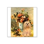 Vase / Lhasa Apso #9 Square Sticker 3