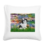 Lilies / Lhasa Apso #2 Square Canvas Pillow