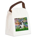 Lilies / Lhasa Apso #2 Canvas Lunch Bag