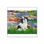 Lilies / Lhasa Apso #2 Square Sticker 3