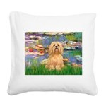 Lilies / Lhasa Apso #9 Square Canvas Pillow
