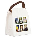 Maltese Famous Art (clr) Canvas Lunch Bag