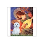 Mandolin Angel / Maltese (B) Square Sticker 3&quot