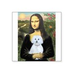 Mona Lisa / Maltese (B) Square Sticker 3