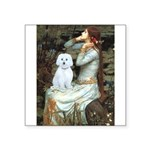 "Ophelia #1 / Maltese (B) Square Sticker 3"" x"