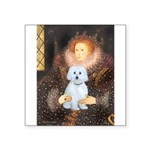 Queen / Maltese (B) Square Sticker 3