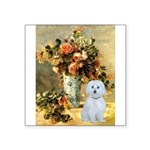 Vase / Maltese (B) Square Sticker 3
