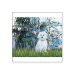 Lilies #1 - Maltese (B) Square Sticker 3