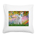 Garden / Maltese Square Canvas Pillow