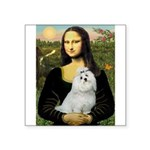 Mona Lisa / Maltese Square Sticker 3