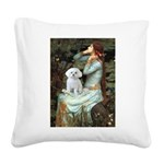 Ophelia's Maltese Square Canvas Pillow