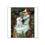 Ophelia's Maltese Square Sticker 3