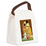 The Kiss / Maltese Canvas Lunch Bag