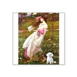 Windflowers / Maltese Square Sticker 3