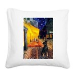 Cafe /Min Pinsche Square Canvas Pillow