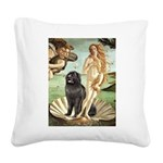 Venus & Newfoundland Square Canvas Pillow