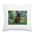 Bridge / Newfoundland Square Canvas Pillow