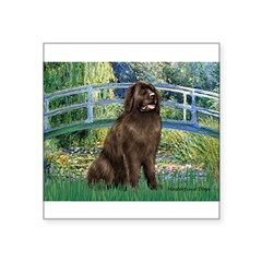 "Bridge / Newfoundland Square Sticker 3"" x 3"""