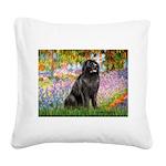Garden / Newfoundland Square Canvas Pillow