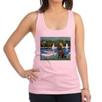 Sailboats & Newfoundland Racerback Tank Top