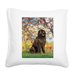 Spring / Newfoundland Square Canvas Pillow