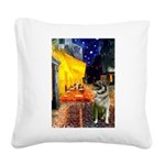 Cafe / Nor Elkhound Square Canvas Pillow