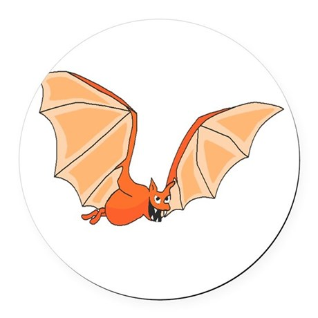 bat3.png Round Car Magnet