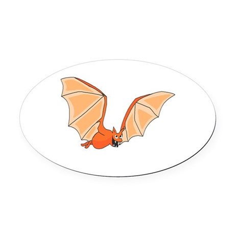bat3.png Oval Car Magnet