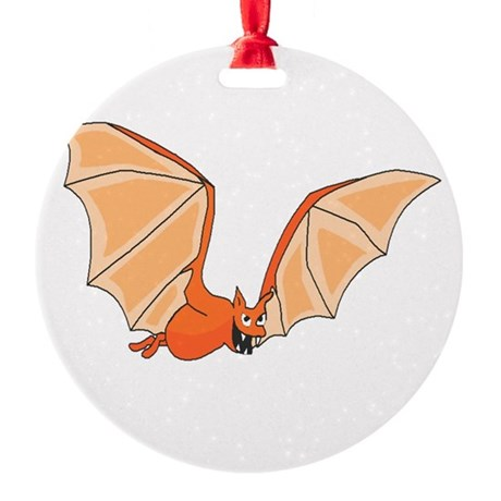 bat3.png Round Ornament